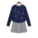 Chic Print Pullover Sweatshirt Top Tank Mini Dress Co-ords