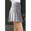 6ba690f819ed New Stylish Zipper Front Simple Plain Faux Leather Mini Skirt ...