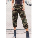 New Stylish Camouflage Print Zip Fly Flap Pocket Pants