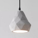 Industrial Pendant Light with 6.3''W Shade in Cement Style