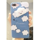 Cute 3D Clouds Pattern Letter Printed iPhone Case
