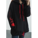 New Fashion Floral Embroidered Long Sleeve Hoodie