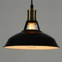 Industrial Barn Pendant Light with 15.35''W Metal Cage,Black