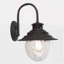 Industrial Wall Sconce in Vintage Style with Clear Glass Shade
