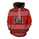New Fashion Christmas Letter Print Long Sleeve Loose Hoodie