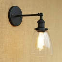 Industrial Wall Light in Nautical Style with 5.71''W Glass Shade