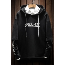 Hip-Pop Style Letter Print Two-Piece Long Sleeve Hoodie
