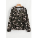 New Fashion Camouflage Pattern Long Sleeve Hoodie