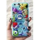 3D Monsters Cartoon Pattern Silicone iPhone Case