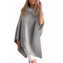 New Stylish Turtleneck Simple Plain Tunic Poncho