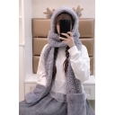 New Fashion Lovely Deer Horn Hooded Scarf