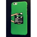 Trendy Hand Action Clap-Stick Letter Printed iPhone Mobile Phone Case