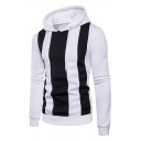 Hot Fashion Striped Print Long Sleeve Casual Hoodie