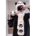 Lovely Panda Design Hooded Scarf