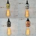 Industrial Mini Ceiling Pendant Light in Bare Bulb Style
