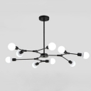 Industrial 9-Light Chandelier 41
