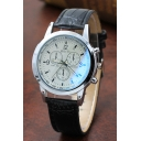 Stylish Leather Strap Men's Quartz Watch