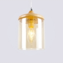 Industrial Pendant Light Wood with 4.72