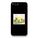 Trendy Coconut Tree Island Mountain Pattern iPhone Mobile Phone Case