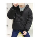 Fashion Cartoon Character Print Long Sleeve Hooded Zipper Padded Coat