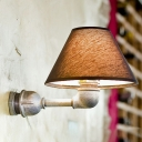 Industrial Wall Sconce in Pipe Style with 7.87''W Fabric Shade