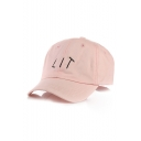 Simple LIT Letter Embroidered Casual Sportive Baseball Cap Hat