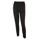 New Fashion Striped Side Elastic Waist Leisure Pants