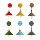 Industrial Wall Sconce with Cone Metal Shade in Nordical Style