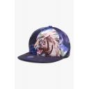 Fashionable Tiger Floral Landscape Fireworks Printed Baseball Cap Hat