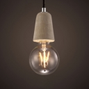 Industrial Mini Ceiling Pendant Light in Cement Style,Grey
