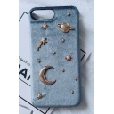 Popular 3D Moon Star Planet Pattern iPhone Mobile Phone Case