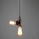 Industrial Vintage Mini Chandelier in Rust Finish, 2 Light