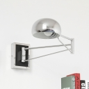 Industrial Wall Sconce with Adjustable Fixture Arm and Bowl Metal Shade