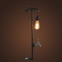 Industrial 24.8''H Pipe Wall Sconce in Bare Bulb Style