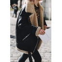 New Stylish Long Sleeve Zipper Warm Fur Jacket