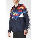 Fashion Camouflage Long Sleeve Hooded Windproof Zip Up Coat