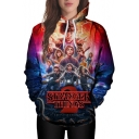 Trendy Movie Graphic Letter Ombre Printed Long Sleeves Pullover Hoodie with Pocket