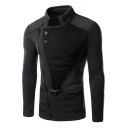 Fashionable Long Sleeve Stand-Up Split Back Slim-Fit Jacket