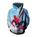 Winter Collection Printed Long Sleeves Pullover Hoodie with Pocket