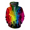 Cool Colorful Painting Print Long Sleeve Hoodie