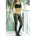 Hot Side Sheer Camouflaged Mesh Patched Yoga Skinny Fashion Leggings