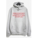 Stylish Letter Printed Long Sleeves Pullover Casual Hoodie with Pocket