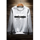 New Arrival Fashion Letter Pattern Round Neck Long Sleeve Casual Leisure Pullover Sweatshirt