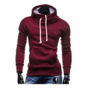 New Design Turtle Neck Plain Long Sleeves Drawstring Leisure Hoodie