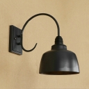 Industrial Wall Sconce with 8.27''W Metal Shade in Barn Style