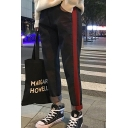 New Stylish Color Block Print Skinny Jeans