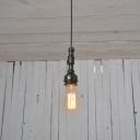 Industrial Ceiling Pendant Light Retro Vintage in Open Bulb Style, Black