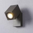 Industrial Mini Spotlight Wall Sconce in Black Finish