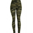 Cool Camouflaged Pattern Elastic Waist Slim-Fit Women's Leggings