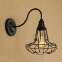 Industrial 7.48''W Wall Sconce with Gooseneck Fixture Arm in Barn Style